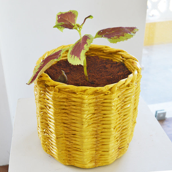 Decorative Knitted Planter Pot