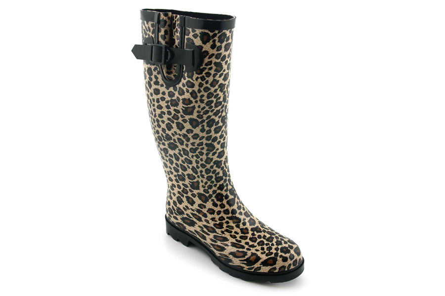 Sunshine CHEETAH Rain Boots for Women by Corkys Footwear