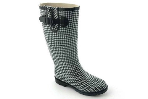 Sunshine HOUNDSTOOTH Rain Boots for Women by Corkys Footwear