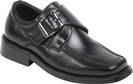 BICYCLE TOE MONK BUCKLE OXFORDS  Dress Shoes for BIG BOYS by Goodfellas