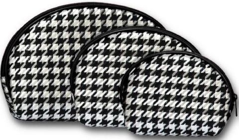 Houndstooth 3-Piece Nesting Cosmetic Set