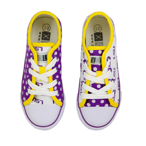 LSU Tigers Canvas Lace-Up Sneakers for Women