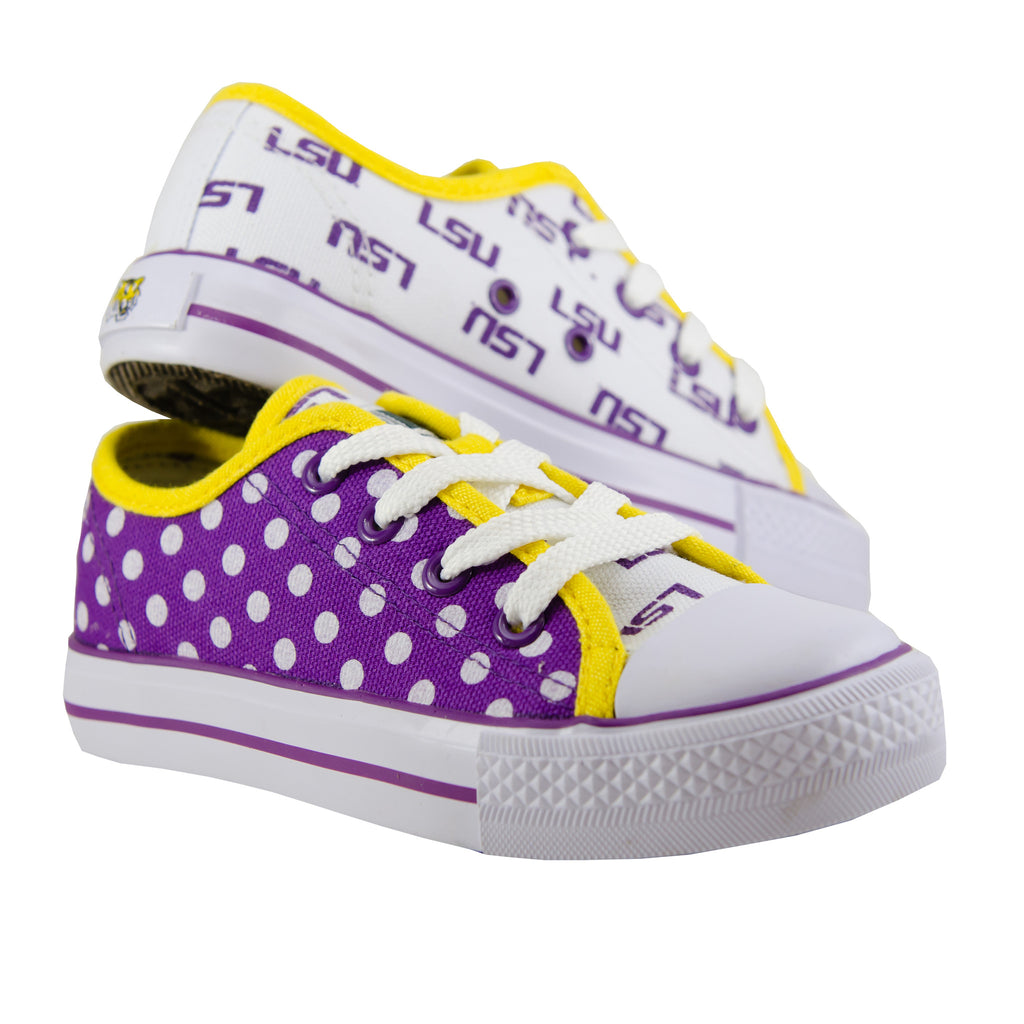 LSU Tigers Canvas Lace-Up Sneakers for Juniors