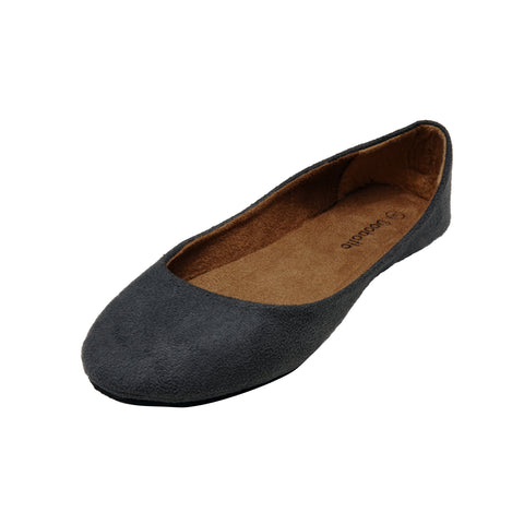 LIZ Suede Ballet Flats for Women by Dooballo Footwear