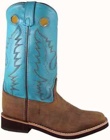 Smoky Mountain Ladies Antique Brown and Turquoise PUEBLO Western Boots