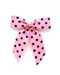 "Small 5"" Snap On Polka Dot Ribbon"
