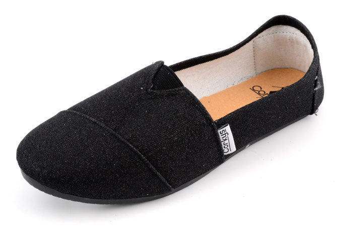 SUESS Glittery Canvas Slip-On Loafers by Corkys Footwear