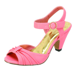 AMPARITO Peep Toe Low Kitten Heel for Women by Mona  Mia