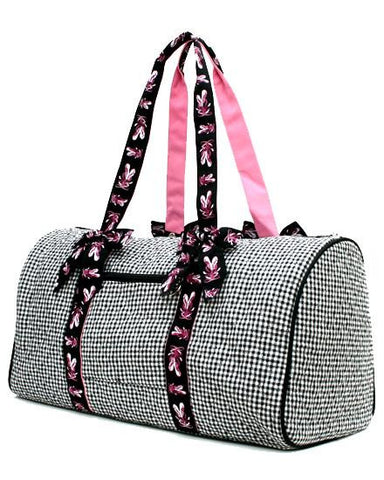 BALLERINA QUILTED GINGHAM DUFFLE BAG by Belvah