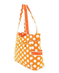 QUILTED LARGE POLKA DOT DIAPER BAG by Belvah