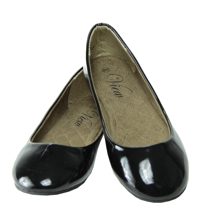 ELISE Patent Ballet Flats for Women by DooBallo Footwear