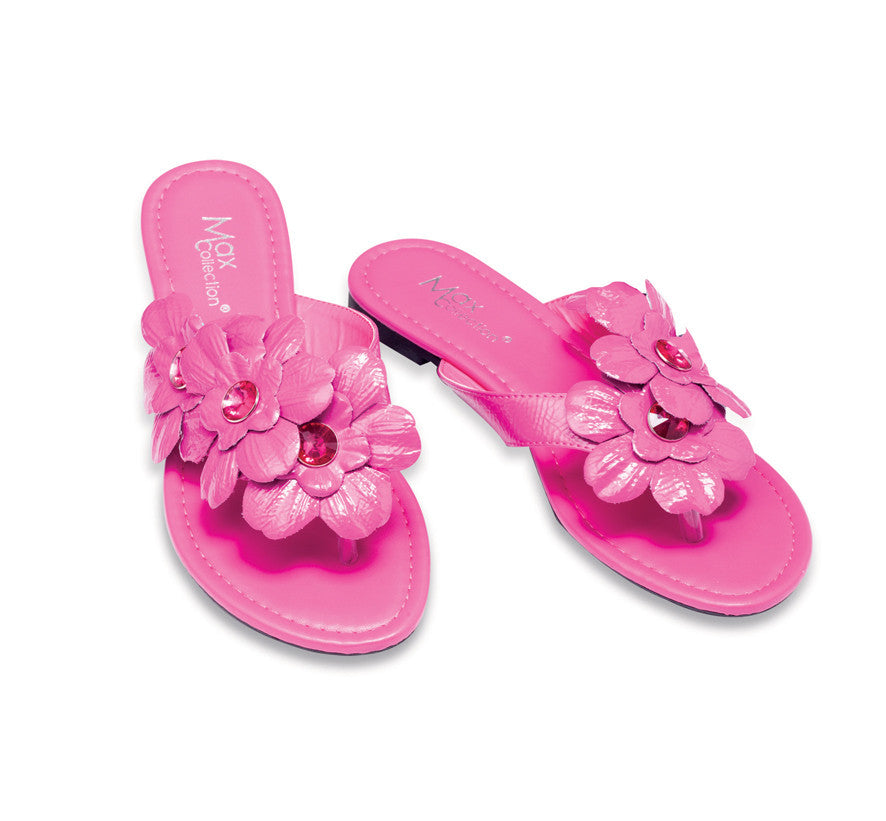 FLORES Flowery Flip Flops for Women by Max Collection