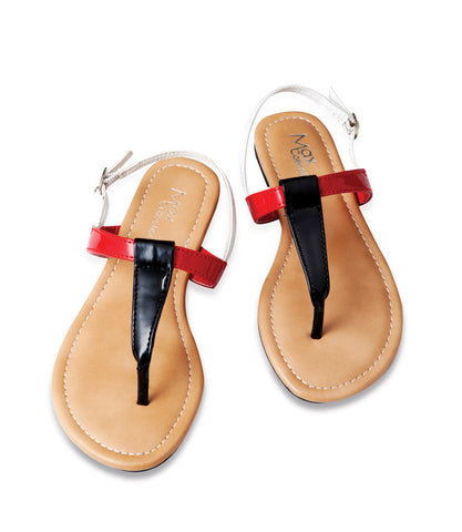 LISA Jr Colorful T-Strap Flip Flop Sandals for Toddlers by Max Collection