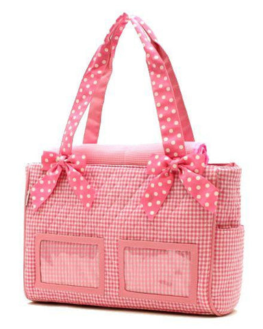 QUILTED COTTON DIAPER BAG with Photo Front by Belvah