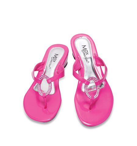 RING Wedge Flip Flops for Women by Max Collection