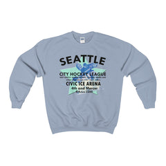 Seattle City Hockey League 1932-1943 Heavy Blend™ Adult Crewneck Sweatshirt