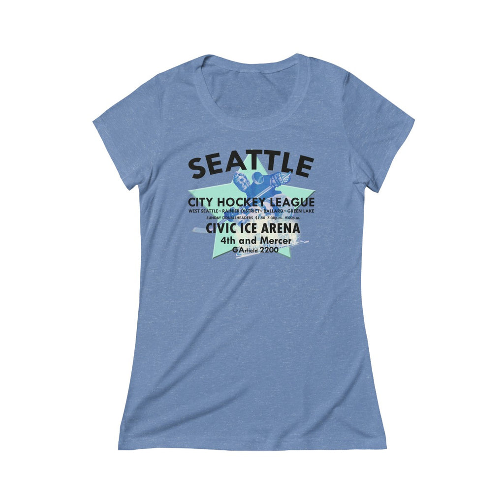 Seattle City Ice Hockey League 1932-1943 Triblend Short Sleeve Tee