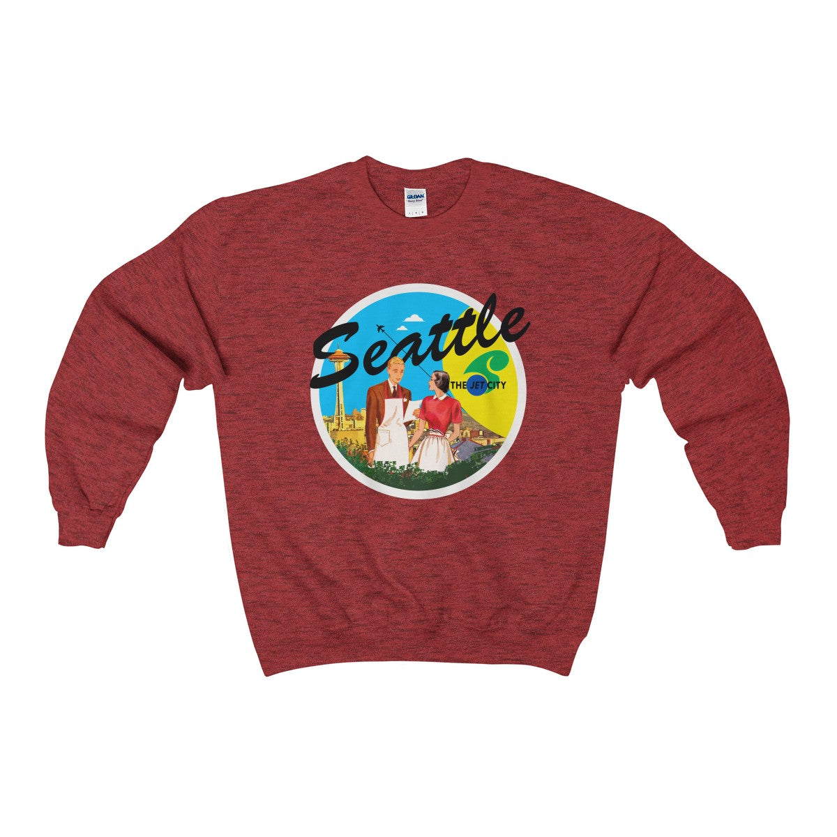 Rocco's Jet City: Bob and Gwen Unisex Heavy Blend™ Crewneck Sweatshirt