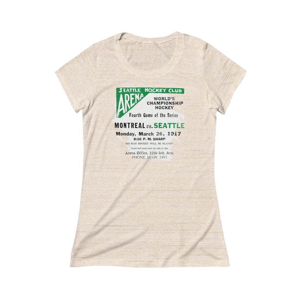 Seattle World Champions 1917 Triblend Short Sleeve Tee