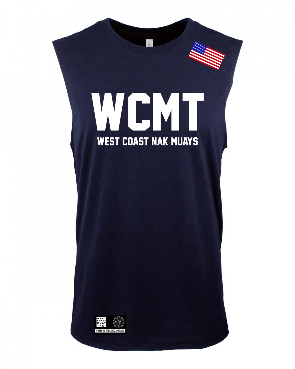 WCMT West Coast Nak Muay Muscle tee (Midnight Blue)