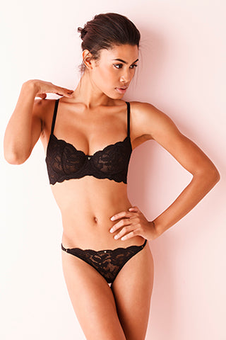 Fortuna Balconette Bra - Black