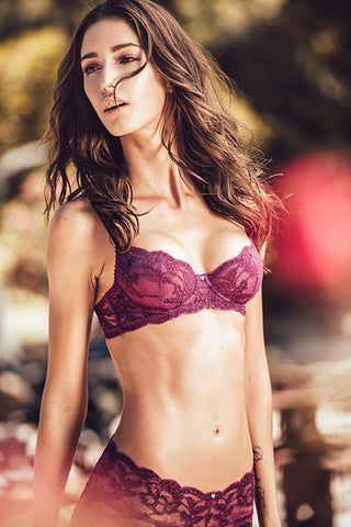 Fortuna Balconette Bra - Granate