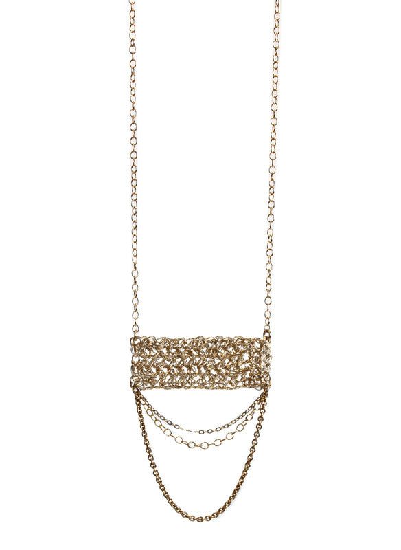 Minaret with Chains Necklace - Gold Fill