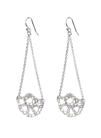 Half Shell Swing Earrings - Silver