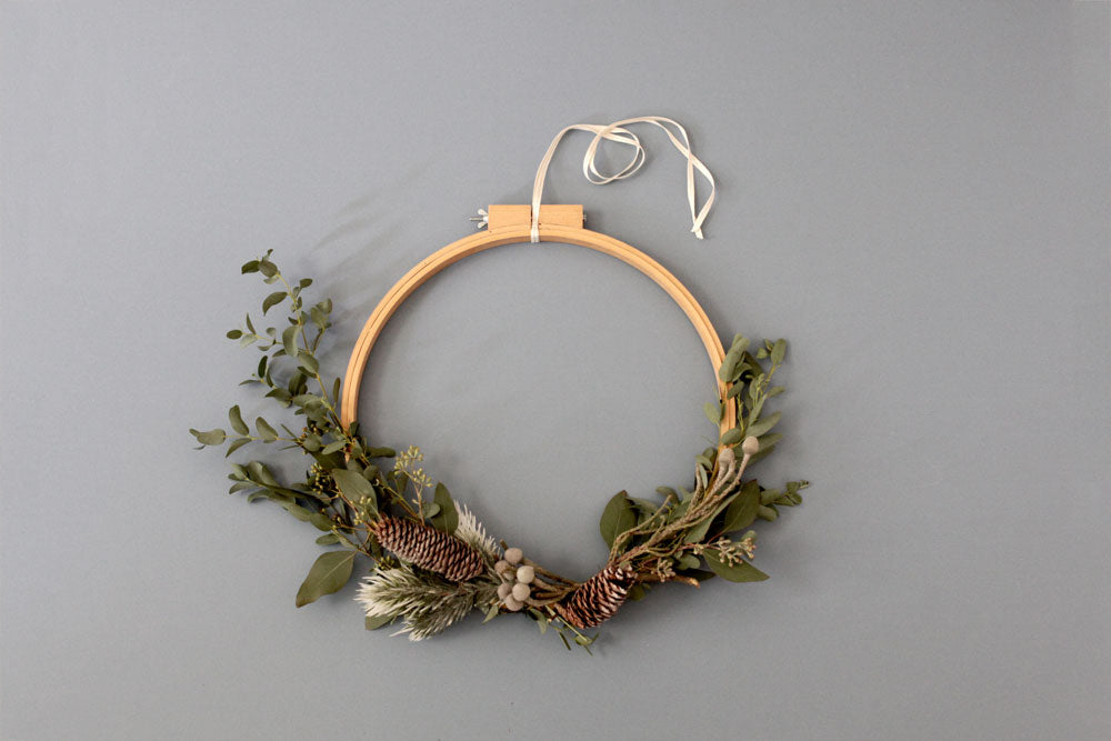 DIY easy simple wreath