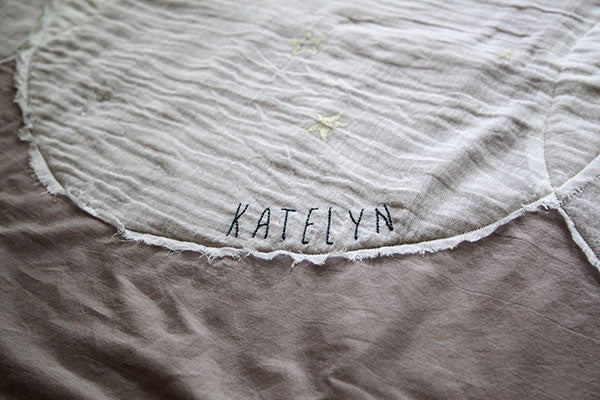 Embroidered Quilt Name