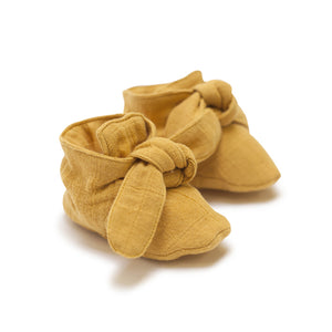 Golden Mustard Pigment Knotted Bootie