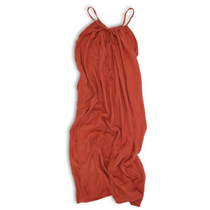 Women's Organic Cotton Maxi Sundress - Cayenne