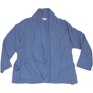 Women's Organic Cotton Gauze Kimono Jacket - Stonewash Blue
