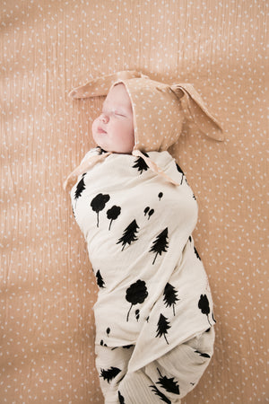 Rylee and Cru and EllieFunDay collaboration bunny hat in scatter print