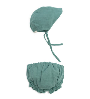 Sun Bonnet Bloomer Set - Silver Sage