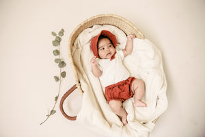 Sun Bonnet Bloomer Set - Cayenne