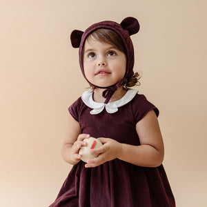 Peter Pan Collar Dress | Pink Meringue Corduroy