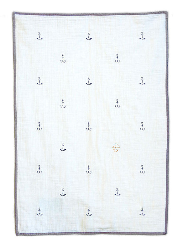 Ahoy Organic Baby Quilt Blanket Elliefunday