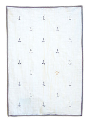 Ahoy Organic Baby Quilt Blanket