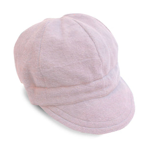 Blush Pink Flannel Newsboy Cap