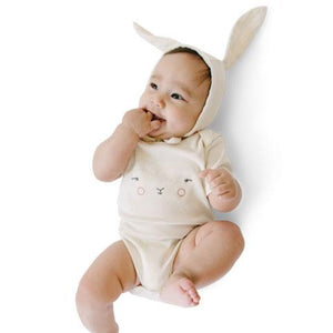 Bunny Hat, Bodysuit and Teether Gift Set - Pink