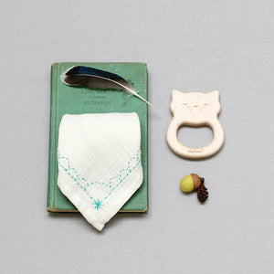 Cat Teether & Bib Gift Set