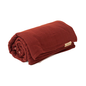 Mille Feuille Throw Blanket - Cayenne