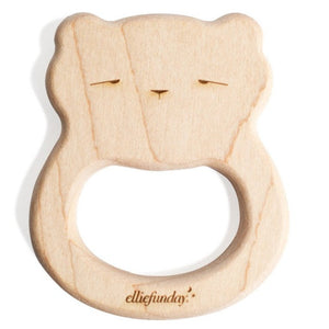 All-Natural Maple Wood Bear Teether
