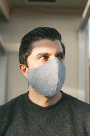 The #SpreadLove Fabric Face Mask - ADULT Chambray