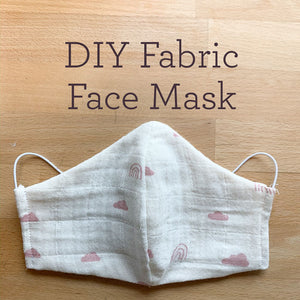 FREE DIY Fabric Face Mask with Pocket Download Pattern for Adults and Children