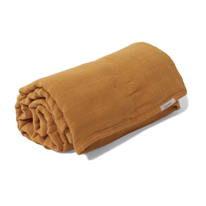 Mille Feuille Throw Blanket - Golden Mustard