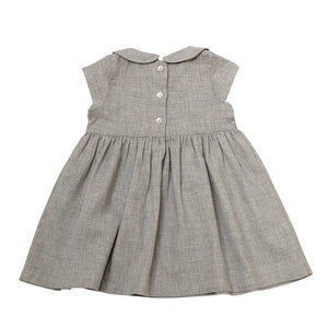 Peter Pan Collar Dress | Silver Gray Melange