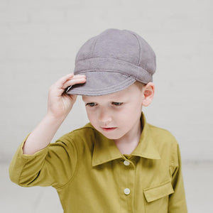 Gray Flannel Newsboy Cap