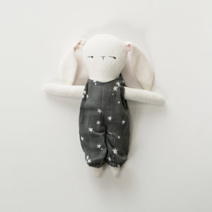 EllieFunDay + Rylee & Cru - White Boy Bunny Doll with Jumpsuit - Stardust